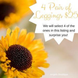 Pants - 4 pair of buttery soft full length leggings $25
